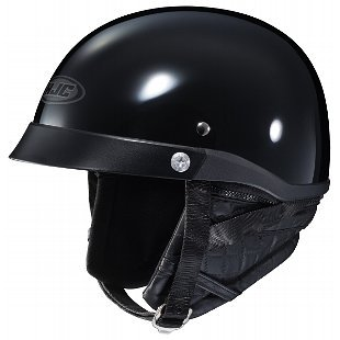 Adult HJC Motorcycle Half Helmet with Removable Curtain DOT Approved CL-IRONROAD