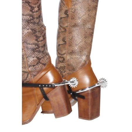 Smiffys 21844 Spurs with Black Straps, Silver