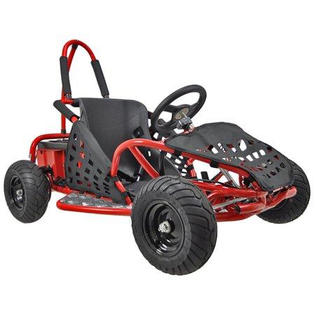 Off Road Go Kart Suspension - MotoTec Off Road Go Kart 48v 1000w Red