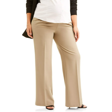 80bb73adcae Oh! Mamma - Maternity Full-Panel Wide Leg Career Pants -- Available in Plus  Sizes - Walmart.com