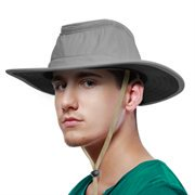 Sun Blocker Outdoor Boonie Sun Protection Hat Mesh Bucket Hat Wide Brim Camping Hiking Fishing Hunting Boating Safari Cap with Adjustable Drawstring (Safari Hats For Kids)