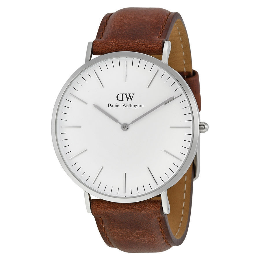 Daniel Wellington 0207DW Men's Classic St. Andrews Brown Leather Stainless Watch by