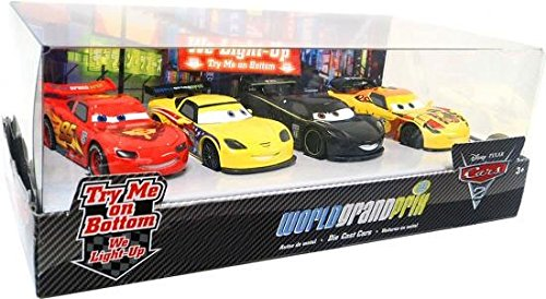 Disney   Pixar CARS 2 Movie Exclusive 148 LightUp Die Cast Car 4Pack Set #2 M... by