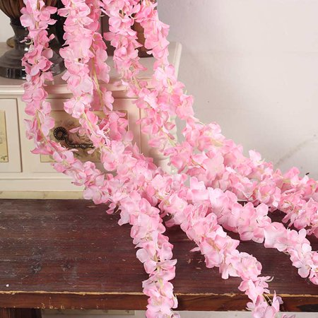 10 Pcs Rattan Strip Wisteria Artificial Flower Vine For Wedding DIY Craft Home Party Kids Room Decoration New