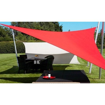 New MTN-G *Triangle Sun Sail Shade Shelter Canopy Cover - Red *2PCS 16.5