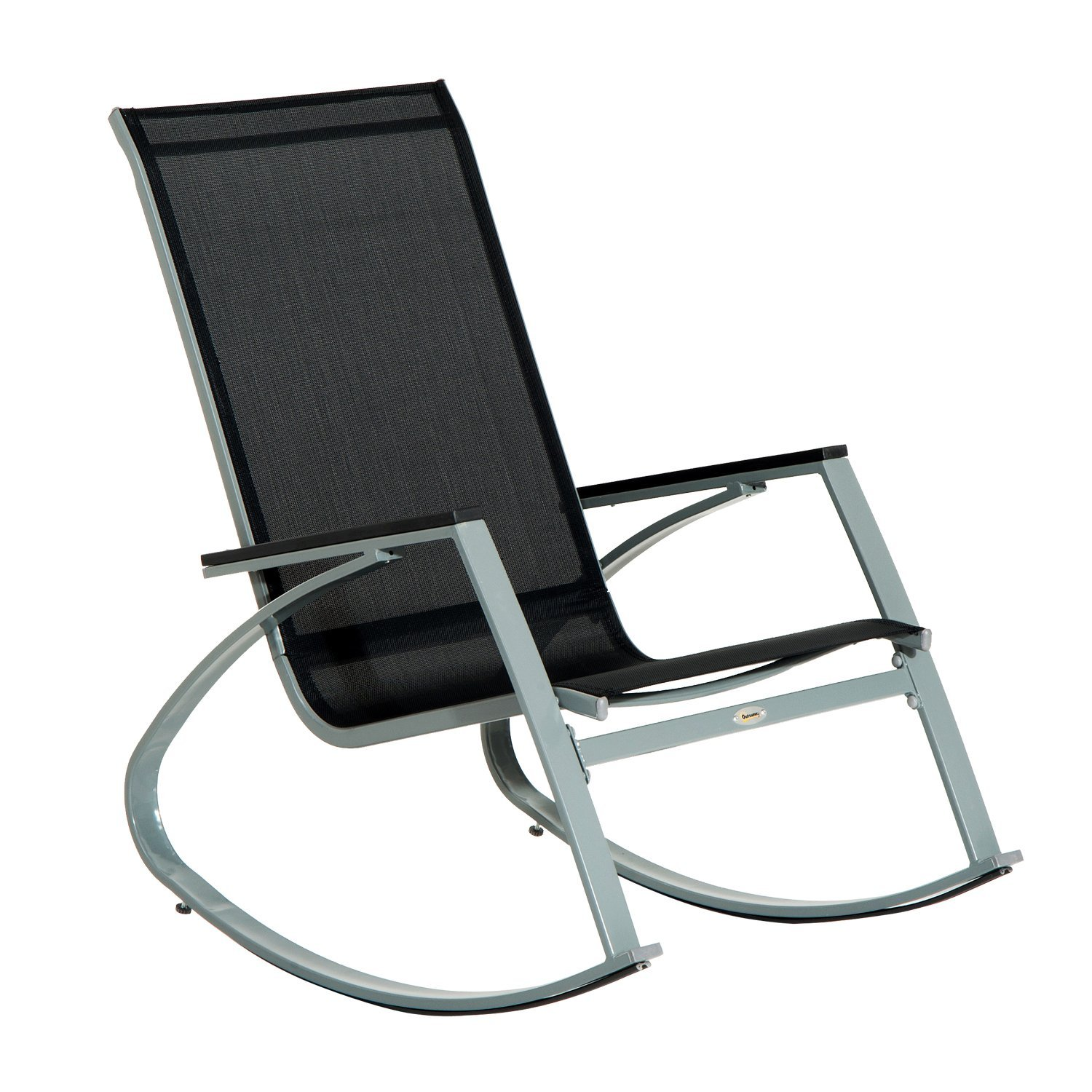 Outsunny Sling Outdoor Modern Rocking Chair