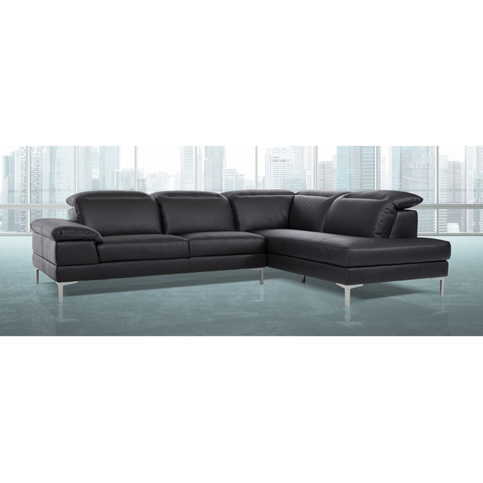 Divani Casa Carnation Modern Eco-Leather Sectional Sofa