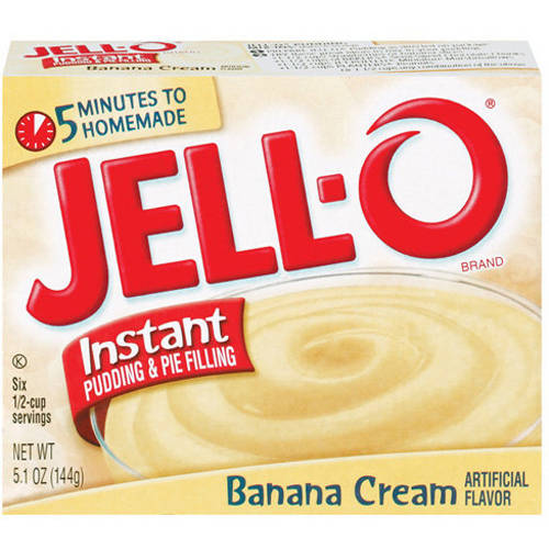 Jell-O Banana Cream Instant Pudding & Pie Filling, 5.1 oz