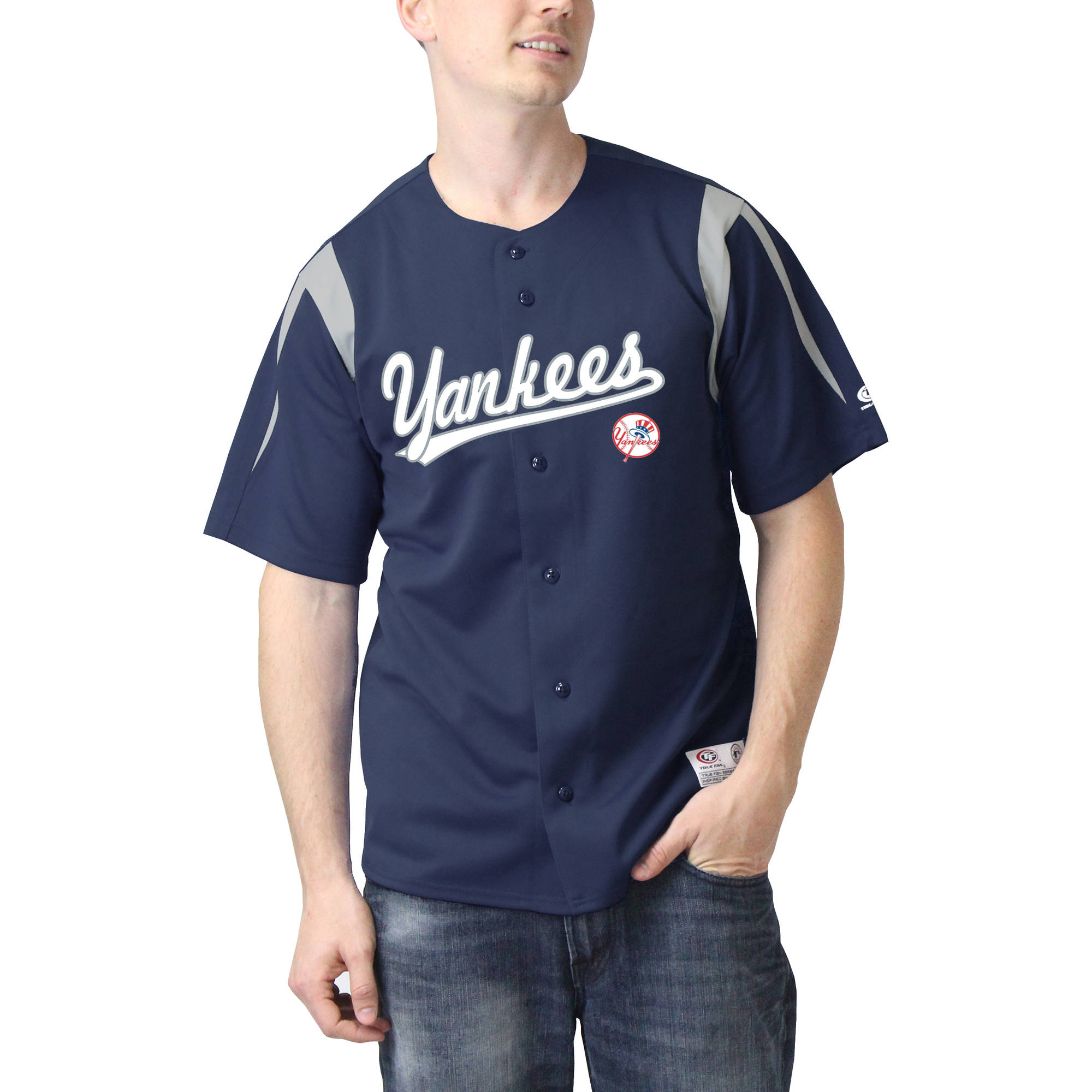 MLB New York Yankees Men's Color Block Jersey