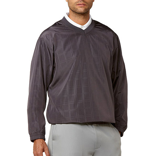 Ben Hogan Men's V-Neck Embossed Windowpane Jacket
