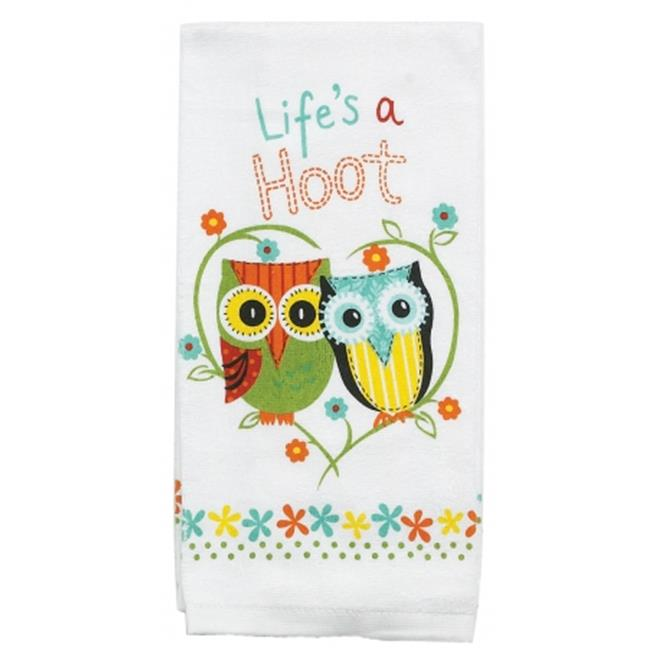 Kay Dee Designs R1230 Life in.s A Hoot Terry Kitchen Towel Pack Of 6 by