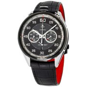 Tag Heuer Carrera Black Dial Leather Strap Men's Watch CAR2C12.FC6327