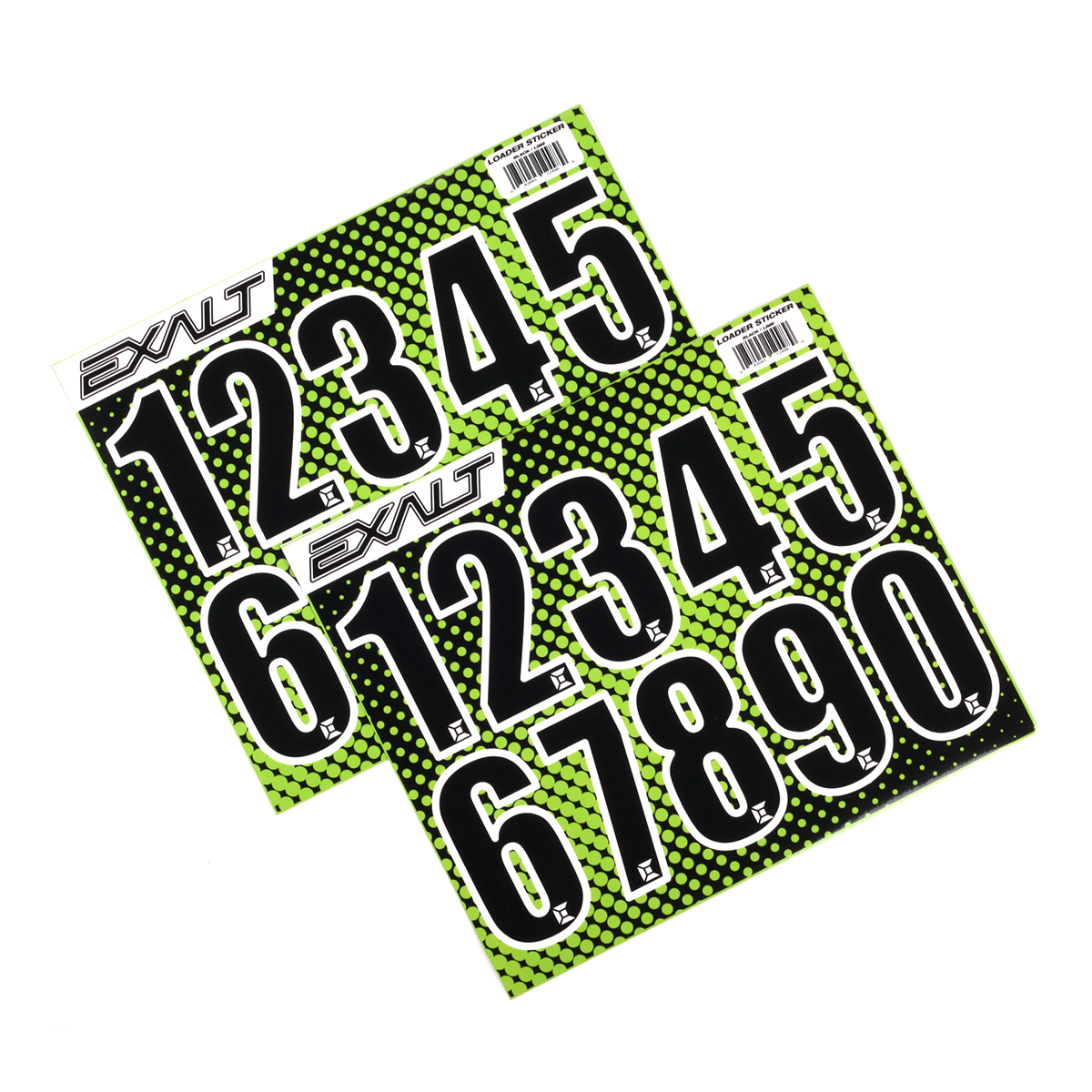 Exalt Paintball Loader Number Stickers - Black