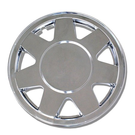 "Set of 4  Chrome Pop-On Hubcaps 15"" WC-15-928-C - Hub Caps Wheel Skin Cover 15 Inches 4 Pcs Set"