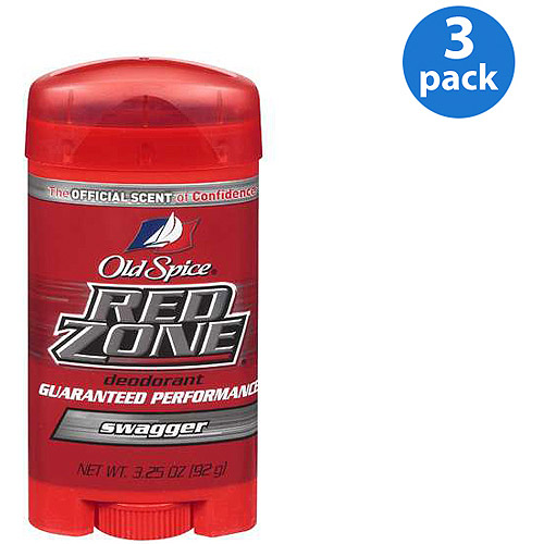 Old Spice Red Zone Swagger Deodorant 3.25 oz (Pack of 3)
