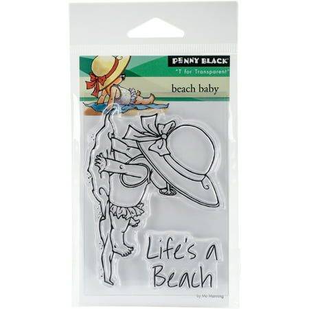 Penny Black Clear Stamps Beach Baby