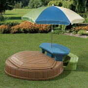 Step2 Summertime Play Center- Sandbox With Cover, Picnic Table and Umbrella