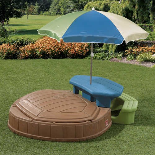 Step2 Summertime Play Center and Sandbox with Built-In Picnic Table and Removable Umbrella