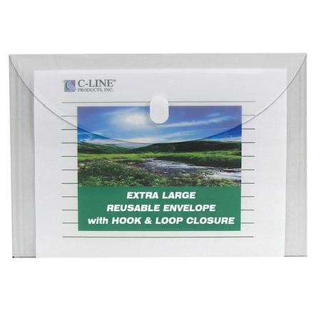 C-Line Clear Poly Fastened File Envelopes, 5 (Line Poly Envelope)
