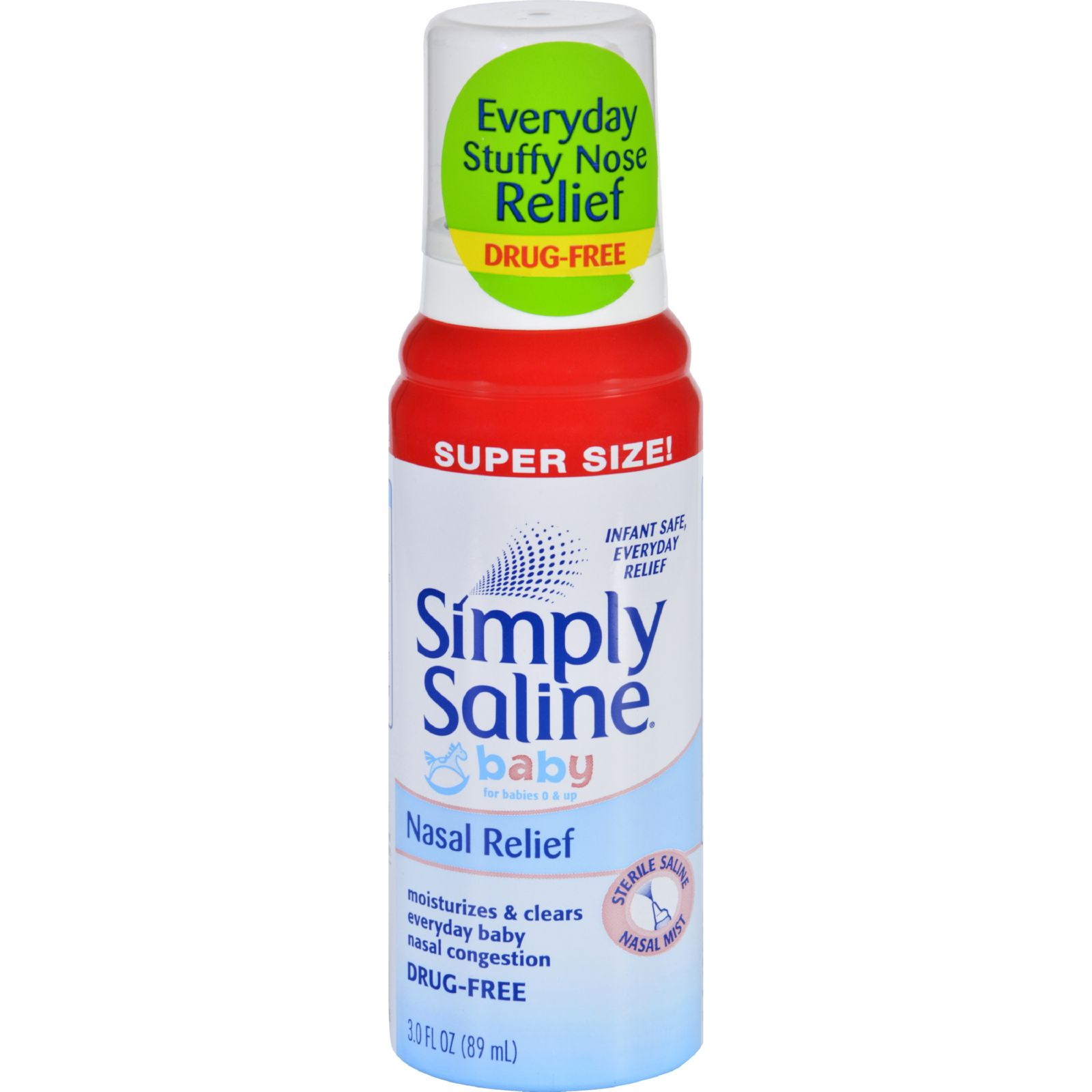 Simply Saline Nasal Relief - Baby Super Size - 3 Oz