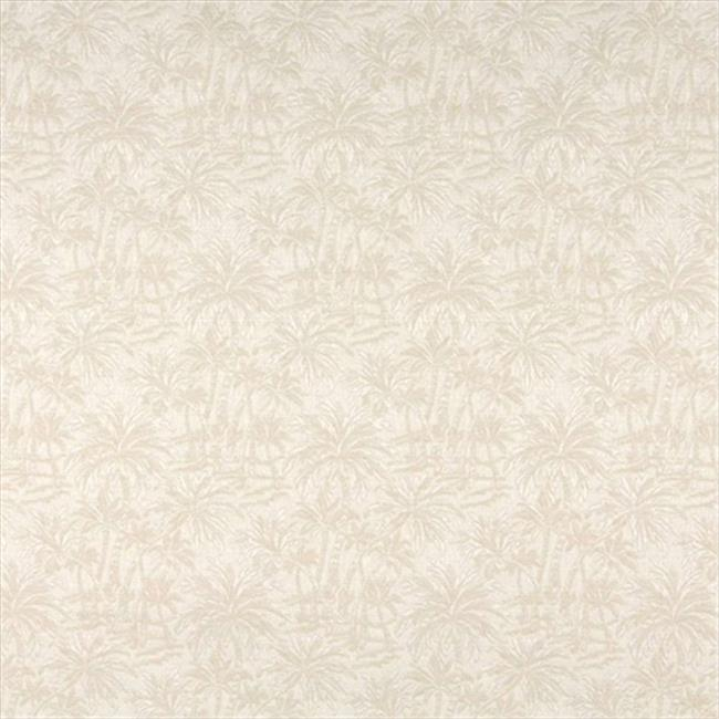 Designer Fabrics A070 54 in. Wide Beige And Off White Tropical Overlapping Palm Trees Upholstery Fabric
