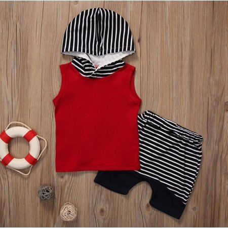 Cute Kid Outfits (Cute Toddler Kids Baby Boy Hooded Vest Tops+Short Pants 2pcs Outfits Clothes)