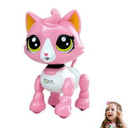 amdohai Robot Cat Interactive Catty Toy Electronic Music Pet for Age 3 4 5 6 7 8 Year Old Girls Gift Idea(Pink)