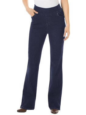 Woman Within Women's Plus Size Tall Bootcut Smooth Waist Jean