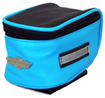 Moto Racer Bicycle Cycling Tank Top Tube Tool Bag Pouch // Black/Blue