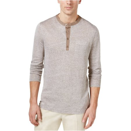 Tasso Elba Mens Linen Marled Henley Shirt Tasso Elba Mens Single