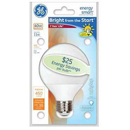 "GE energy smartᅡᆴ Bright from the Start"" CFL 11 watt G25 1-pack"