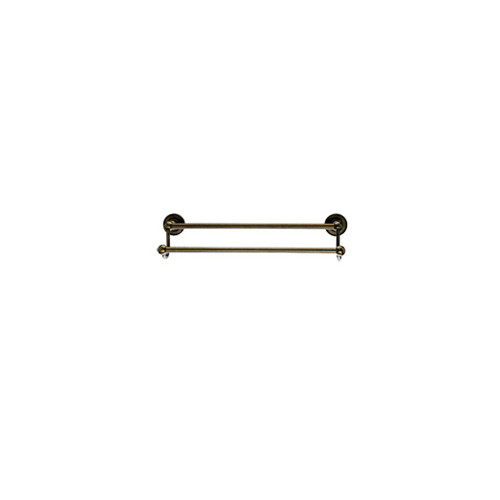 "Top Knobs ED7GBZD Edwardian Bath 18"" Double Towel Bar - German Bronze - Plain Backplate"