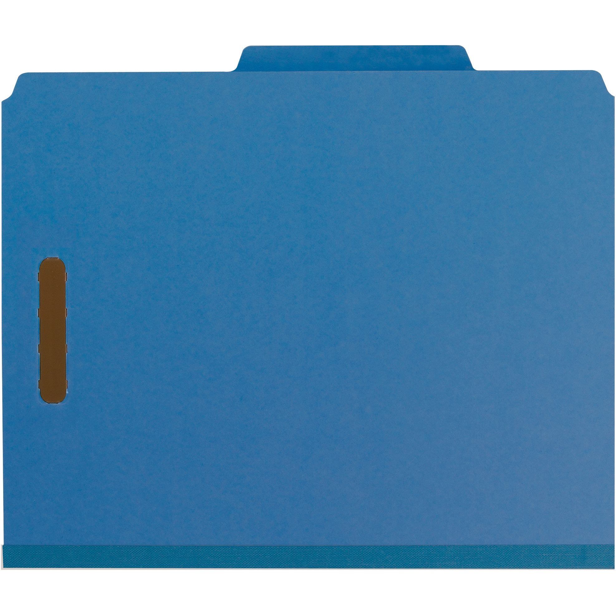 Smead, SMD14062, Recycled Pressboard 2-Divider Classification Folders, 10 / Box, Dark Blue