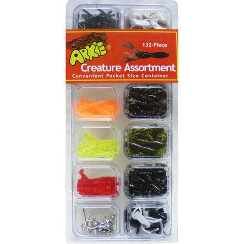 Arkie Lures Panfish Creature Lure Kit, 132-Piece