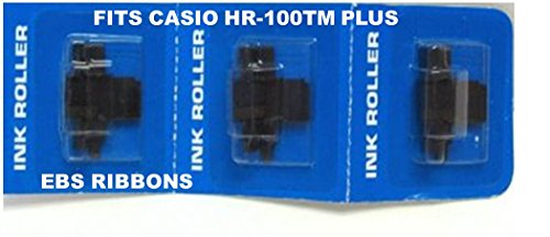 2 Pack FREE SHIPPING Casio HR 100 TM Plus Printing Calculator Ink Rollers