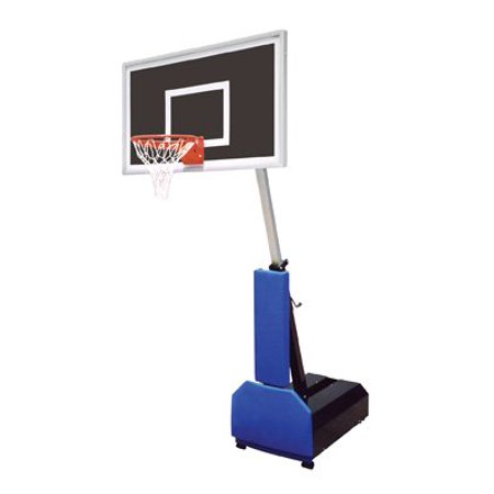 Navy Blue Team Ball - First Team Fury Eclipse Steel-Glass Portable Basketball System44; Navy Blue