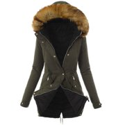 Autumn Winter Women Parka Hooded Jacket Casual Padded Coat