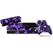 Electrify Purple - Skin Bundle Decal Style Skin fits XBOX One Console Original, Kinect and 2 Controllers (XBOX SYSTEM NOT INCLUDED)