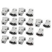 Unique Bargains 19 Pcs D-Sub DB9 9Pin Connector Shielded Plastic Hood Cover Housing Shell Gray