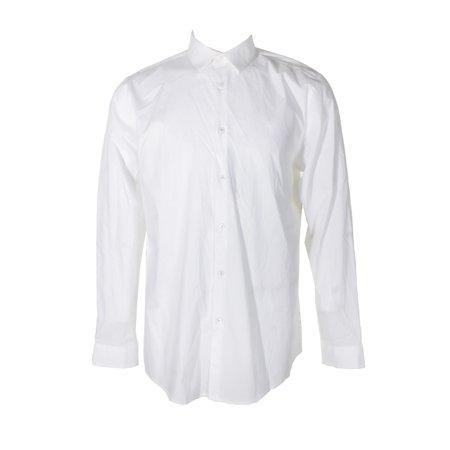 1be0d5bb79432b INC - Inc International Concepts White Slim-Fit Long Sleeve Stretch Button  Down Shirt - Walmart.com