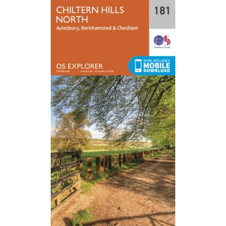 OS Explorer Map (181) Chiltern Hills North (Map) - Chapel Hill Halloween Map