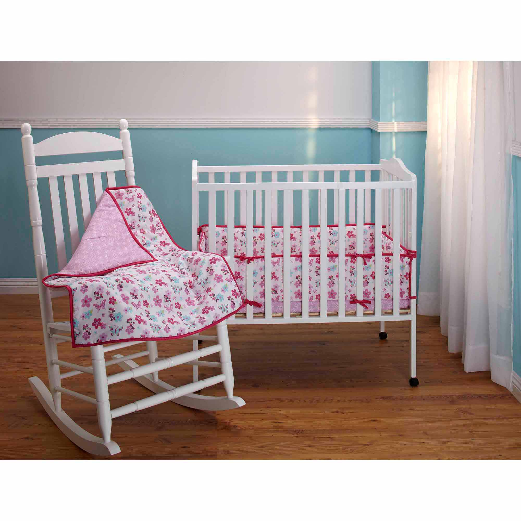 Disney Baby Bedding Minnie Mouse Portable Crib Bumper