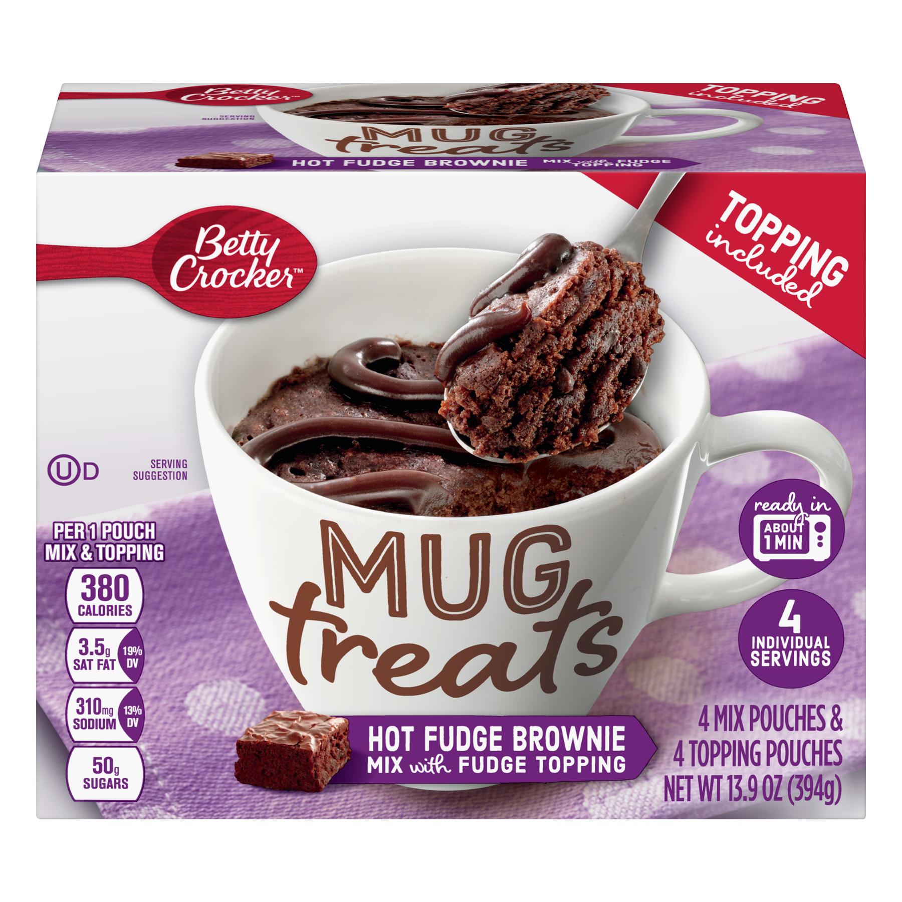 (6 Pack) Betty Crocker Mug Treats Hot Fudge Brownie
