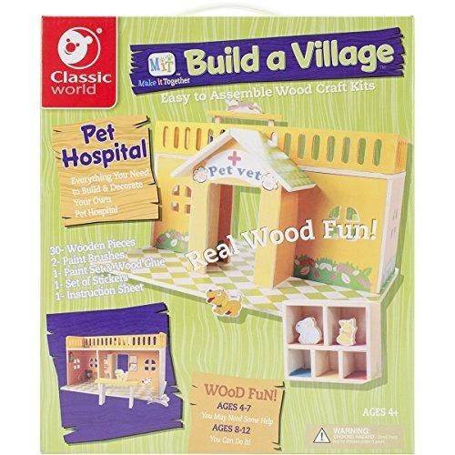 Classic Build A Village Pet Hospital Building Kit