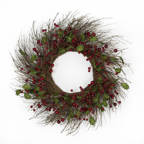 Mills Floral Company 24'' Berry Wreath