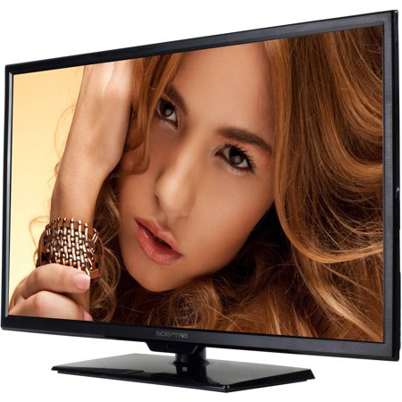 "Sceptre 32"" LED Class 720P HDTV with ultra slim metal brush bezel, 60Hz (X322BV-M)"