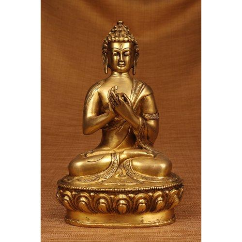 Miami Mumbai Brass Series Praying Buddha Figurine