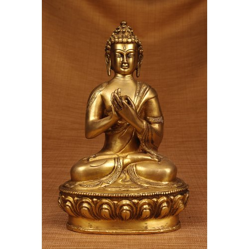 Miami Mumbai Brass Series Praying Buddha Figurine