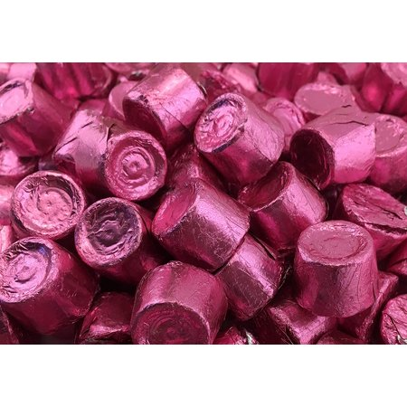 Rolo Chewy Caramel Milk Chocolate Candy, Pink Foil wrap, Bulk 3 Pounds Bag Foil Chocolate Wrappers