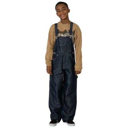 Brown Corduroy Boys Overalls - Vibes Boy's Dark Indigo Shiny Denim Carpenter Overalls